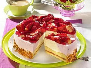 Erdbeer-Vanille-Joghurt-Torte Rezept
