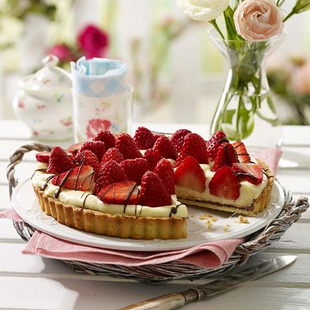 Erdbeer-Vanille-Tarte Rezept