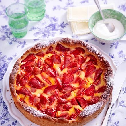 Erdbeer-Wähe mit Zitronenguss Rezept