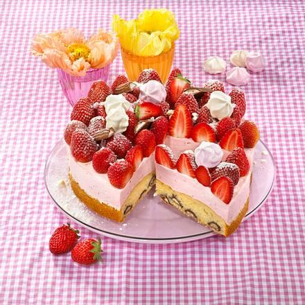 Erdbeer Yogurette Torte Rezept Lecker