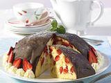 Erdbeerbombe mit Vanillecreme Rezept