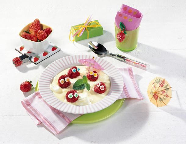 Erdbeeren in Vanille-See Rezept