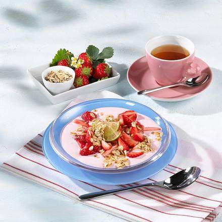 Erdbeerjoghurt mit Röstflocken Rezept