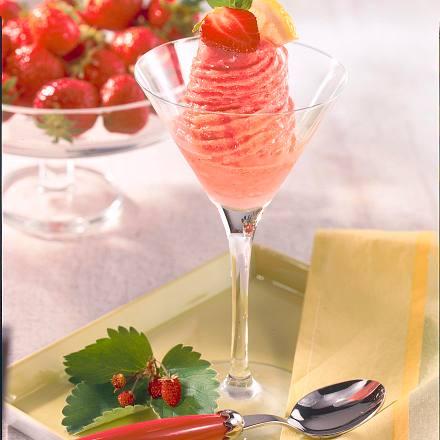 Erdbeersorbet (4 Personen) Rezept