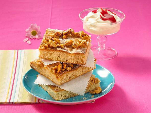 Erdnuss-Butterblechkuchen Rezept