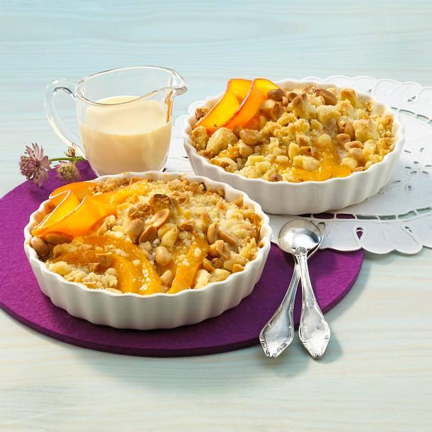 Erdnuss-Mango-Crumble Rezept