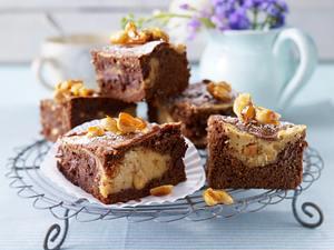 Erdnussbutter-Schoko-Brownies (Springform) Rezept