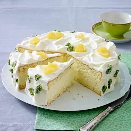 Erfrischende Ananas-Minz-Torte Rezept