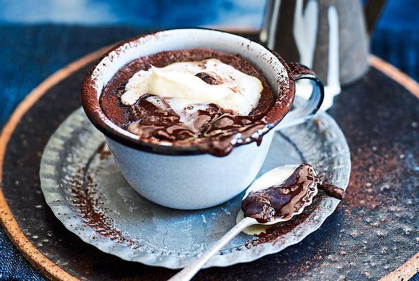 Espressopudding mit Schokoschmelz Rezept