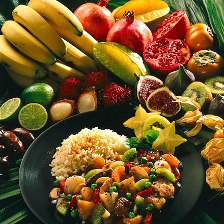 Exotische Früchte-Pfanne Rezept