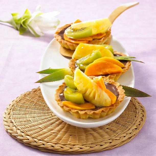 Exotische Obsttörtchen Rezept