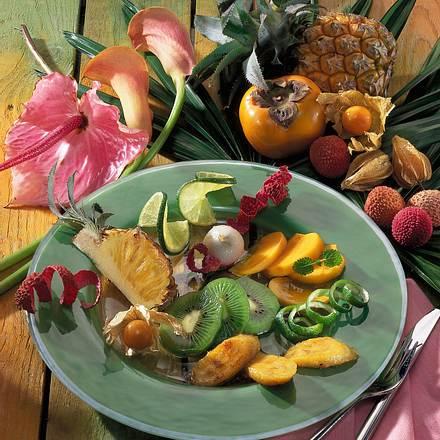 Exotischer Früchte-Teller Rezept