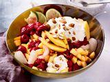 Exotisches Tuttifrutti mit Kokosjoghurtcreme Rezept