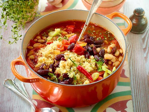 Express-Veggie-Chili mit Bulgur Rezept