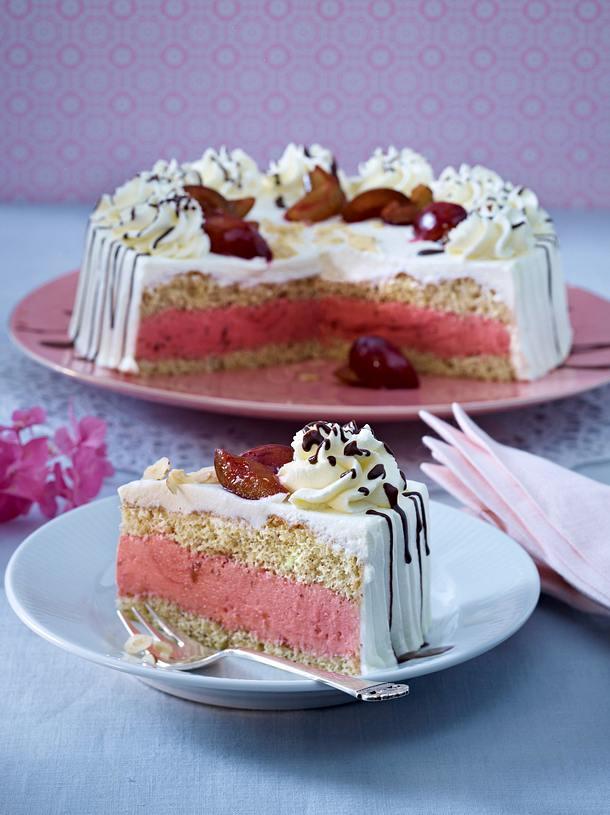 Edle Pflaumencreme-Torte Rezept