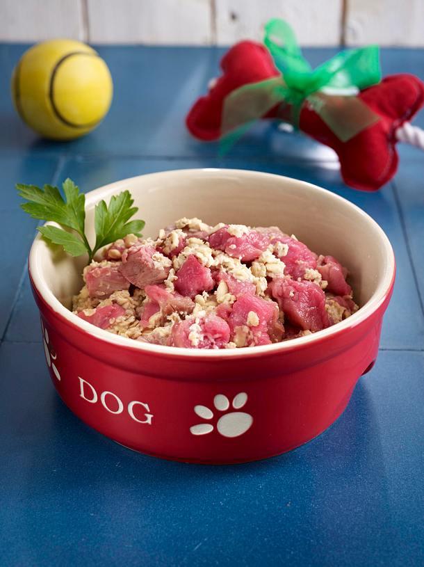 Filetflöckchen für den Hund Rezept