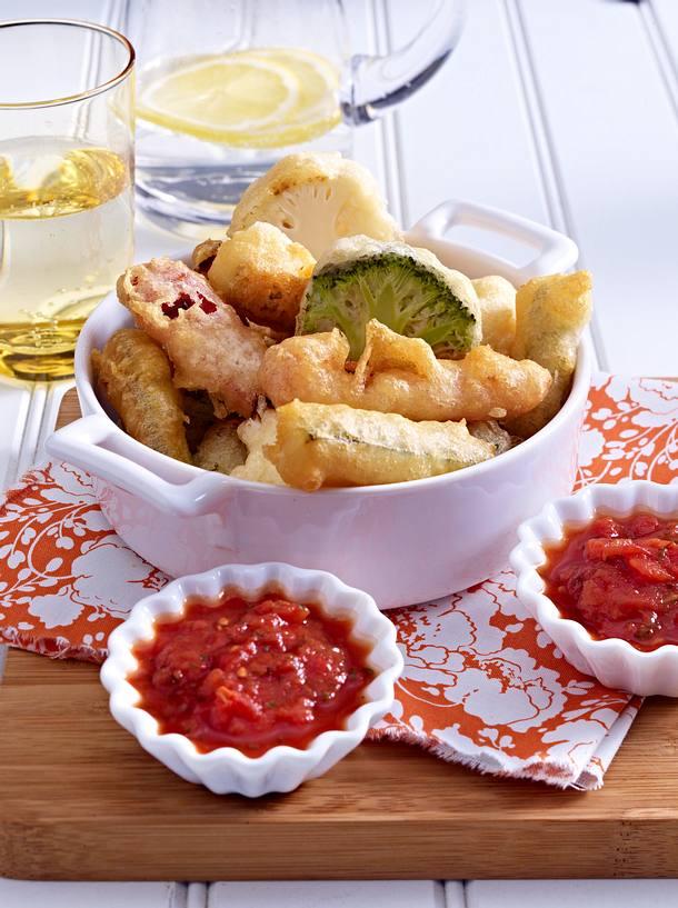 Légumes en tempura Rezept