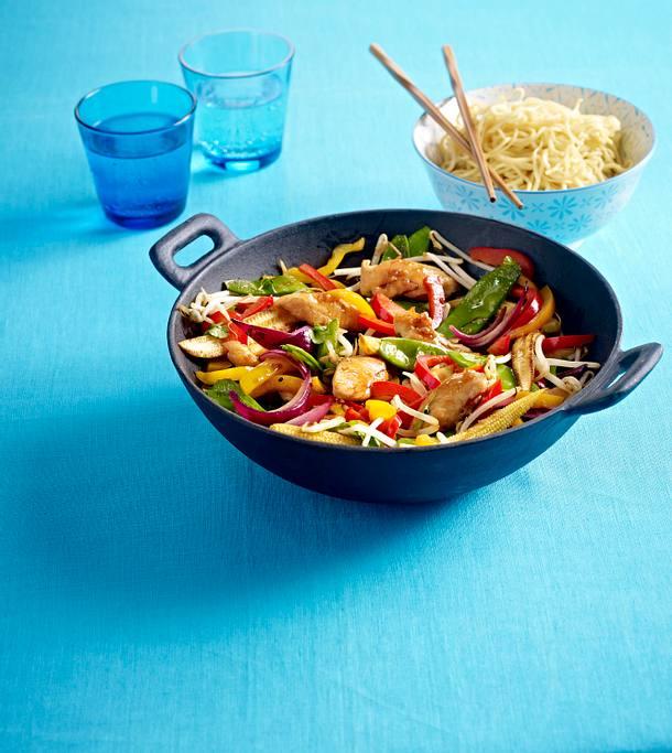 Summer chicken stir-fry Rezept