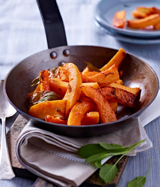 Pan Fried Squash with Sage Rezept