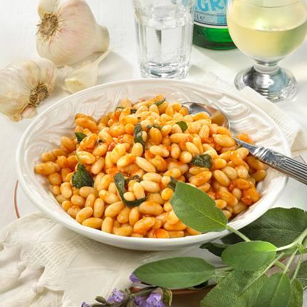 Fagioli all´uccelletto (Weiße Bohnen mit Salbei) Rezept