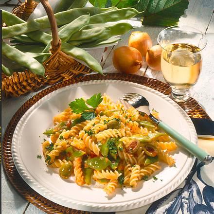 Fagioli alla romano (Nudeln mit römischen Bohnen) Rezept