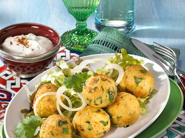 Falafel mit Joghurt-Dip Rezept