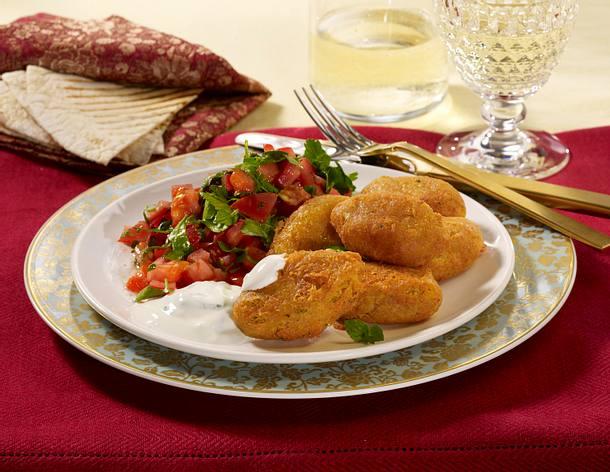 Falafel mit Minze-Joghurt und Petersilien-Salat Rezept