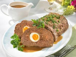 Falscher Hase mit Petersilienkartoffeln Rezept
