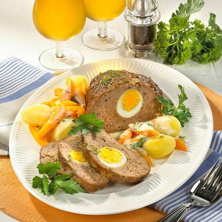 Falscher Hase zu Béchamel-Möhren Rezept