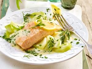 Fangfrisch: Lachsfilet auf Kräuter-Kohlrabi rezept