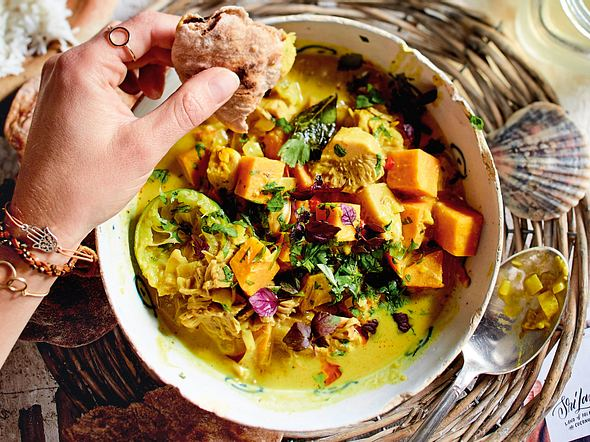 """Feel Good""- Jackfrucht-Curry Rezept"