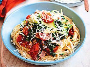 Feierabend-Spaghetti mit Gemüsebelohnung Rezept