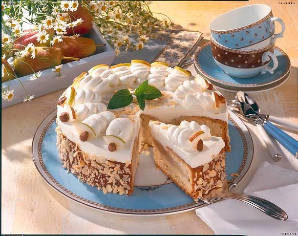 Feine Birnen-Sahne-Torte Rezept