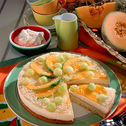 Feine Melonen-Mascarpone-Torte Rezept