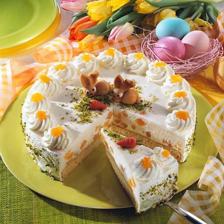 Feine Ostertorte mit Aprikosen und Joghurtcreme Rezept