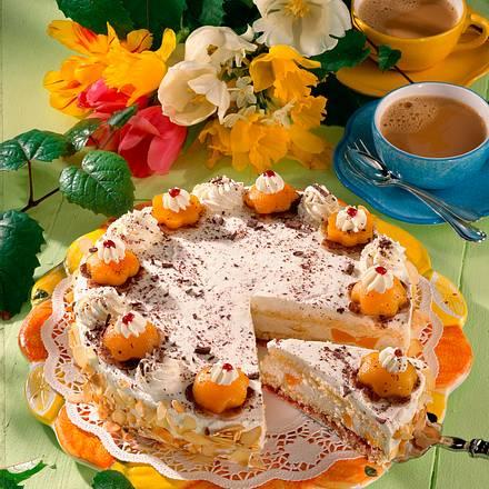 Feine Pfirsich-Melba-Torte Rezept
