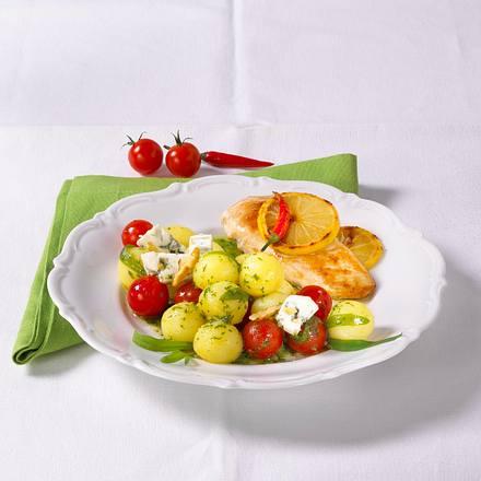 Feiner Kartoffelsalat zu Hähnchenfilet Rezept