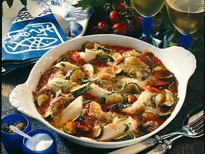 Feiner Schollenfilet-Auflauf mit Zucchini Rezept