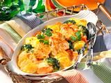 Feines Gemüsegratin mit Hähnchenfilet Rezept