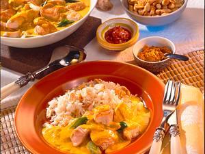 Feines Hähnchencurry mit Reis Rezept
