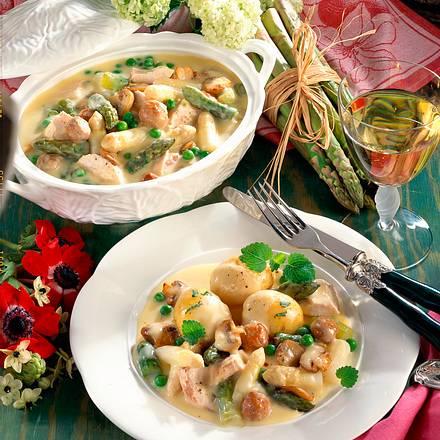 Feines Spargel-Hühner-Ragout Rezept