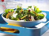 Feldsalat mit Birne und Gorgonzola Rezept