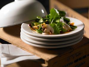 Feldsalat mit Champignons und Kartoffel-Vinaigrette Rezept