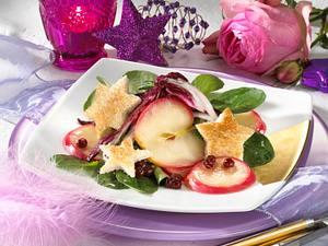 Feldsalat mit Stern-Croûtons Rezept