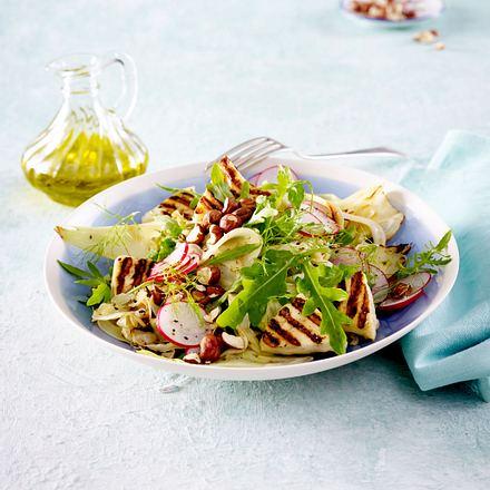 Fenchel-Radieschen Salat mit Halloumi Rezept