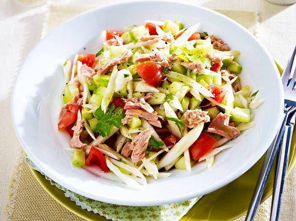 Fenchel-Salat mit Thunfisch Rezept | LECKER