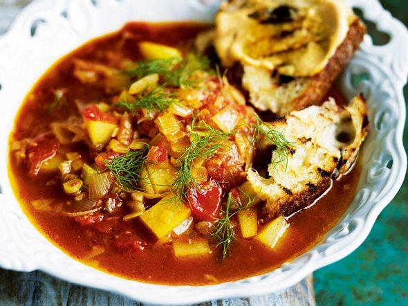 Fenchel-Tomatensuppe mit Rouille Rezept