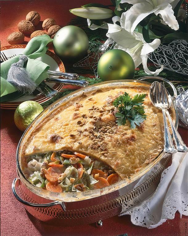 Festliches Gemüse im Kartoffelteig Rezept