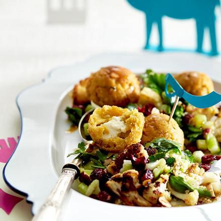 Feta-Falafel mit Blumenkohl-Taboulé Rezept