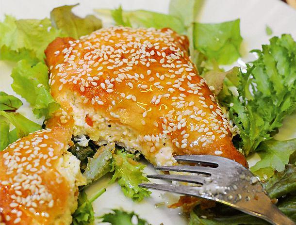 Feta mit Sesam und Honig Rezept